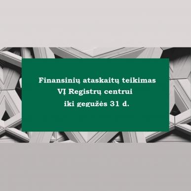 Pelno nesiekiančios organizacijos jau gali teikti finansinių ataskaitų rinkinius už 2020 m.
