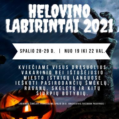 Helovino labirintai 2021
